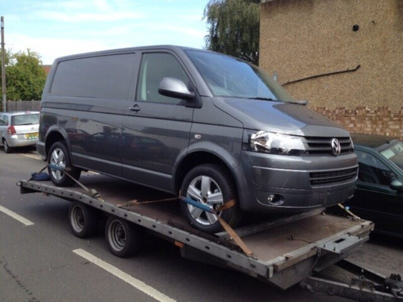 VW T5 transportation for VW Wrexham