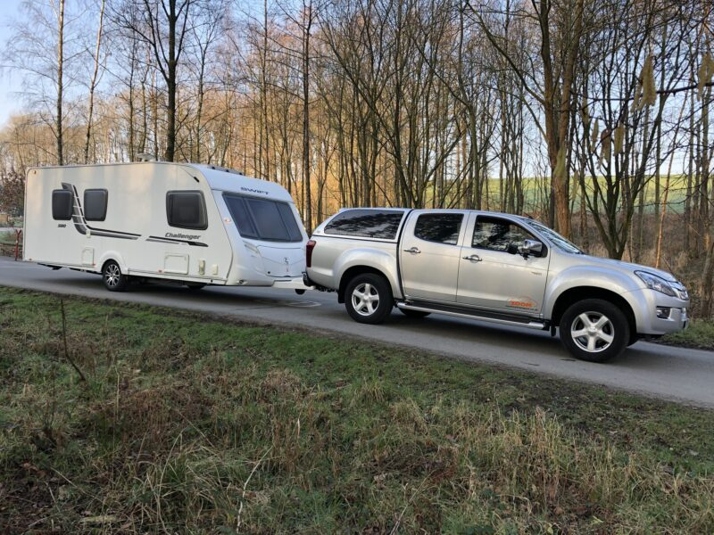 Single axle touring caravan delivery