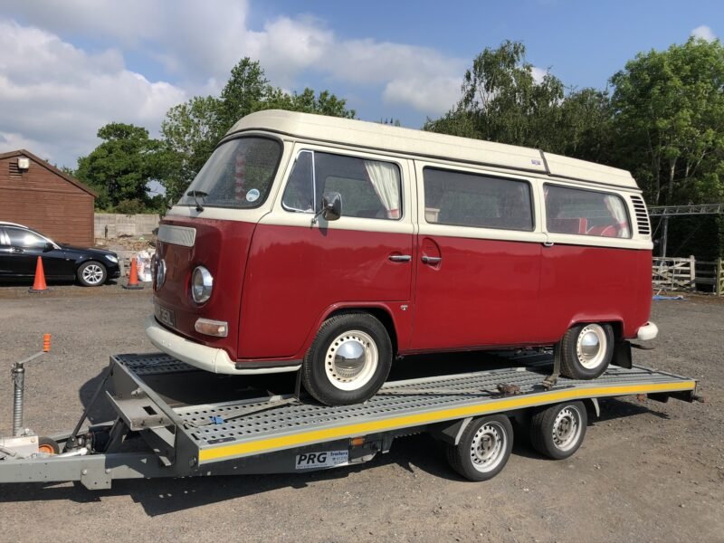 VW T2 collected from storage centre in Cheshire