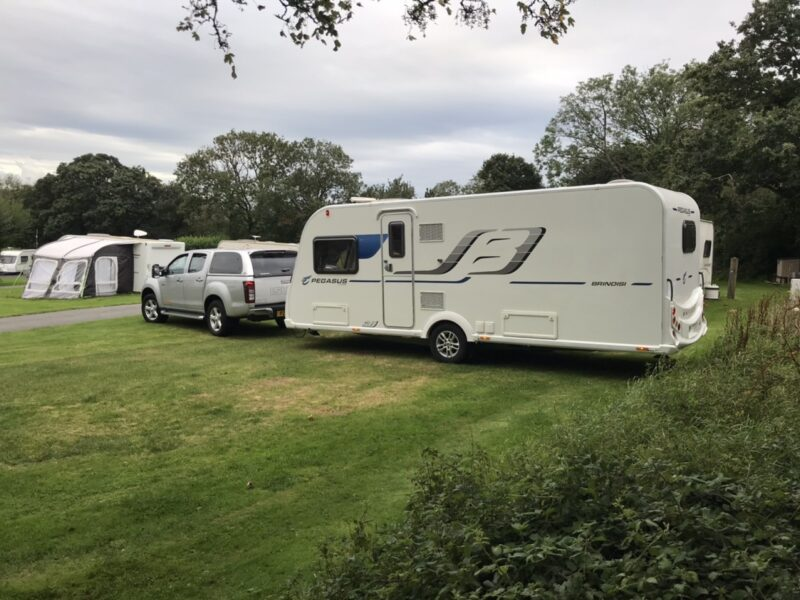 Touring caravan delivery to seasonal holiday pitch in North Wales