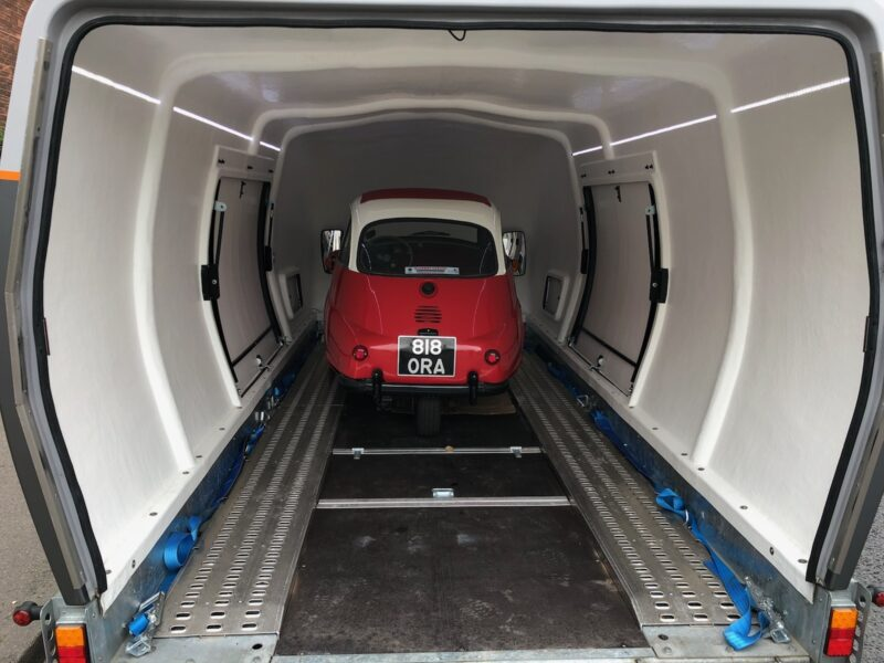 BMW Isetta covered car transport
