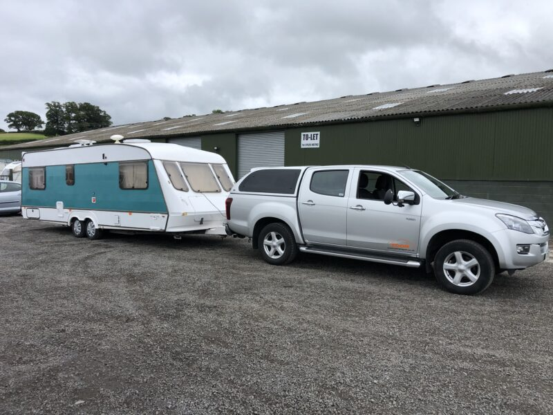 Possibly to most colourful caravan I have ever delivered Aberdaron