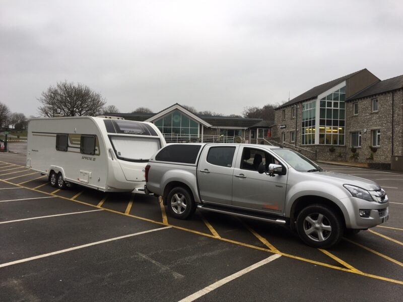 Touring caravan pick-up and delivery by Zoom