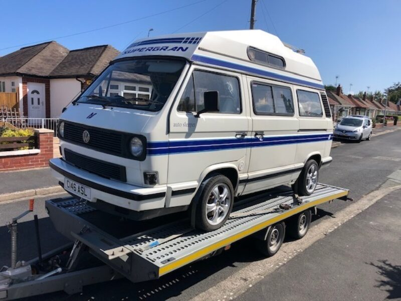 VW T25 transported from North Wales to Somerset