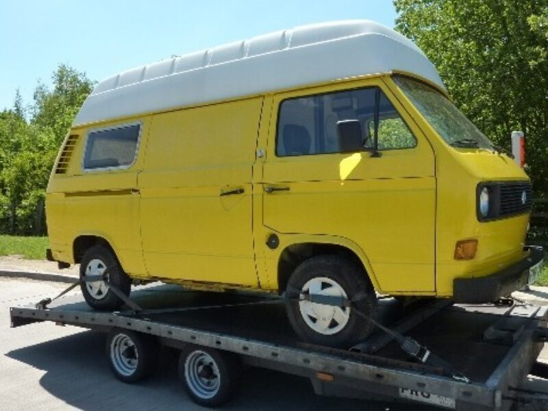 VW T25 delivery to its new owner