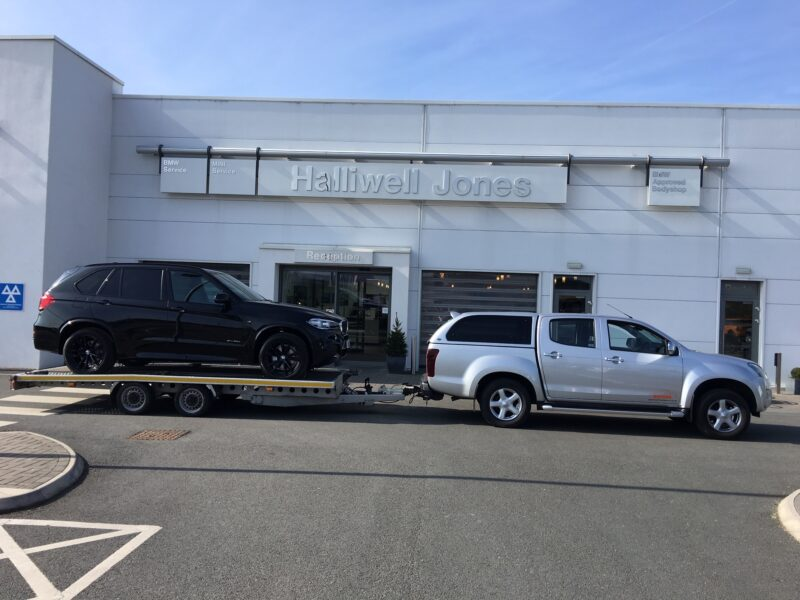 Company Car delivery for Halliwell Jones Chester